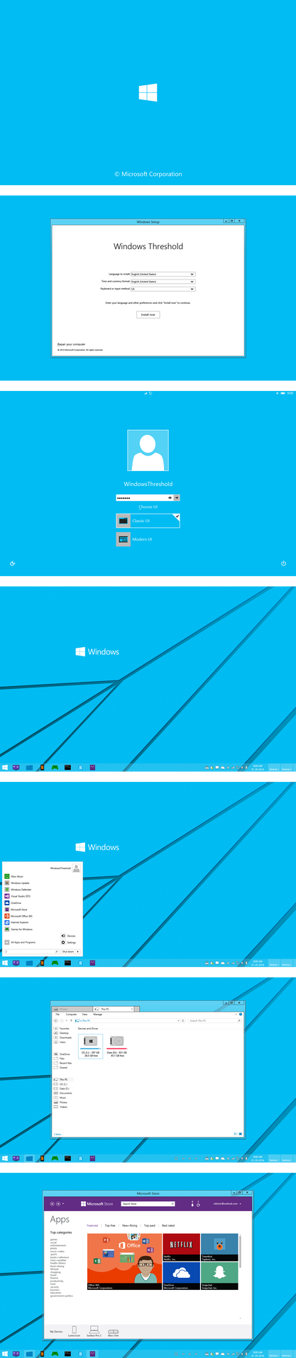 Windows 9  / Threshold - Classic UI by nik255