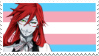 Grell is a Trans Woman (Stamp) by H1EROGLYPH