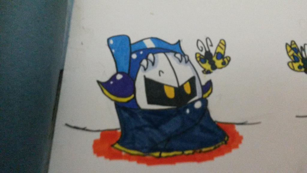 Meta Knight And The Butterfly by vivilong