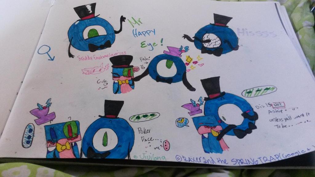 Mr happy eye by vivilong