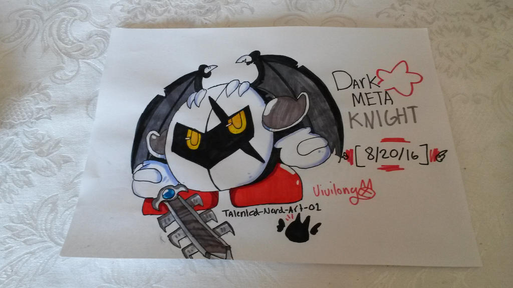 Dark Meta Knight by vivilong