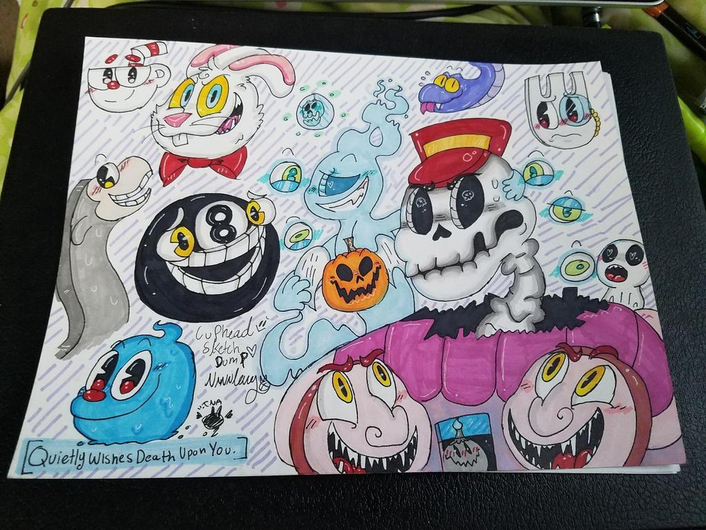 Cuphead Sketch Dump~ by vivilong