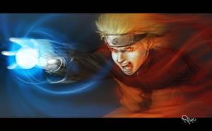 Fan art: sketch Naruto by theartofraku