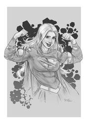 Commission: Super-supergirl by theartofraku