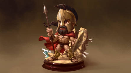 Spartan figure by theartofraku