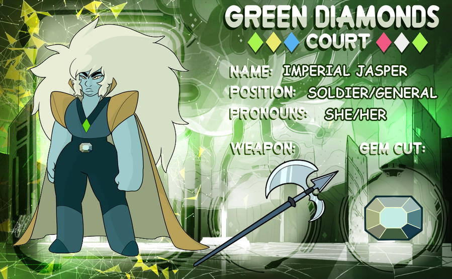 Completely new Green Diamond's Court_Imperial Jasper - by PencilTree on DeviantArt AI16