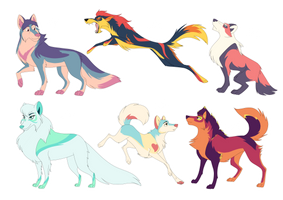 - Adoptable wolves - OPEN by PencilTree