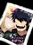 Rin and Shiemi - Purikura
