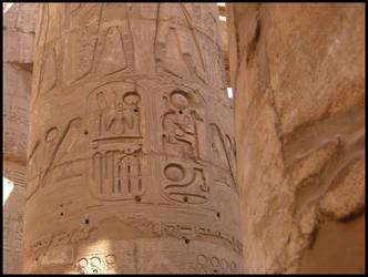 Hieroglyph 2 - Karnak Temple by broadwaydude