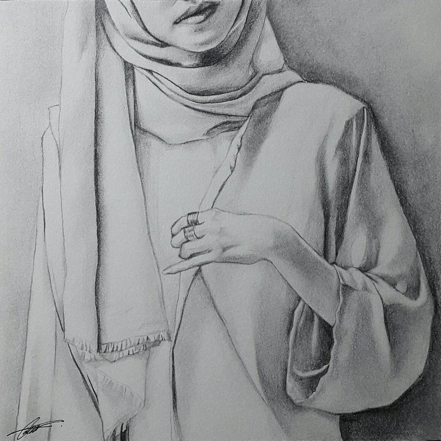 hijab drawing