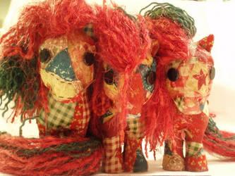 Ragdolly Patchwork Ponies by KarRedRoses