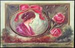 Art Nouveau Postcard - With Affectionate Regards