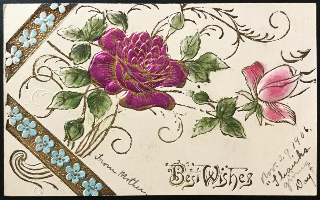 Pretty Papers 1906 Postcard Floral Design By Karredroses On Deviantart