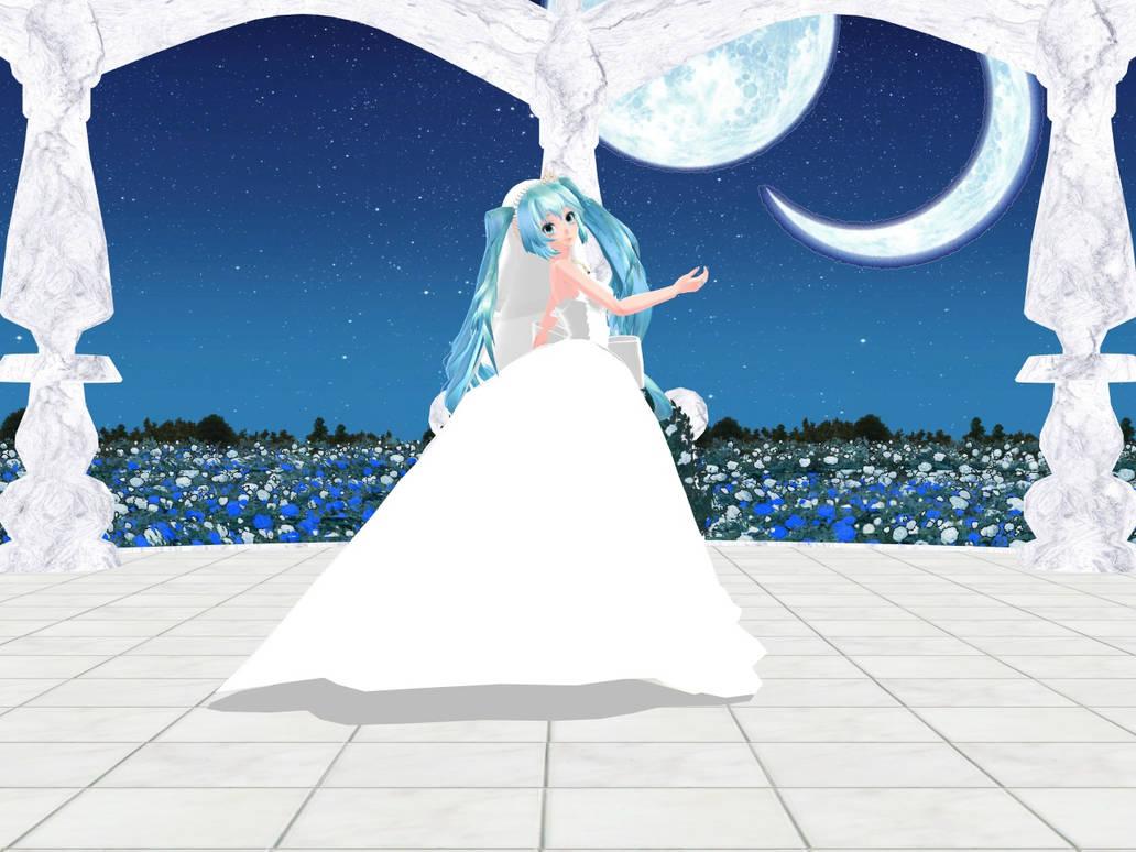 Cute bride Miku