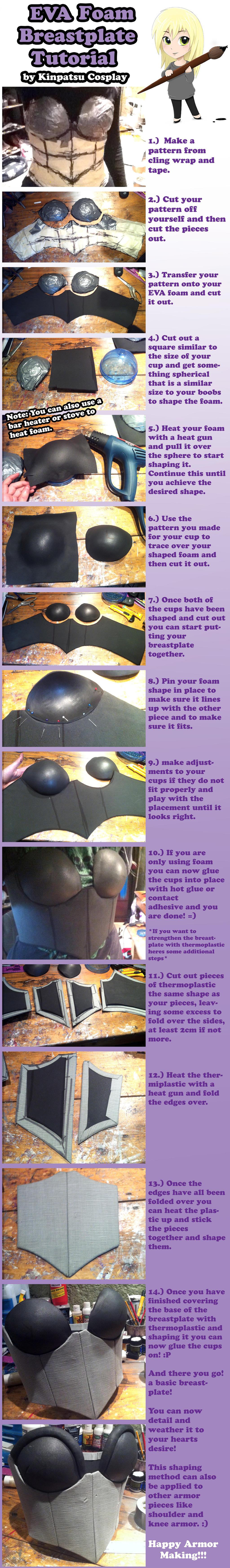 Eva Foam Breastplate Tutorial By Kinpatsu Cosplay On Deviantart