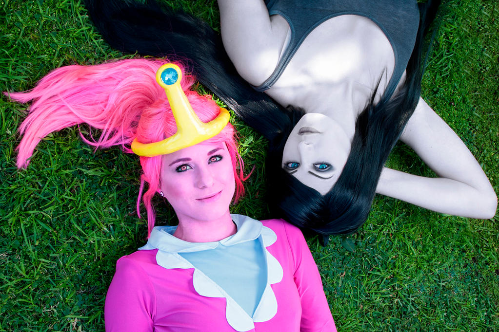 Marceline and Princess Bubblegum by Kinpatsu-Cosplay