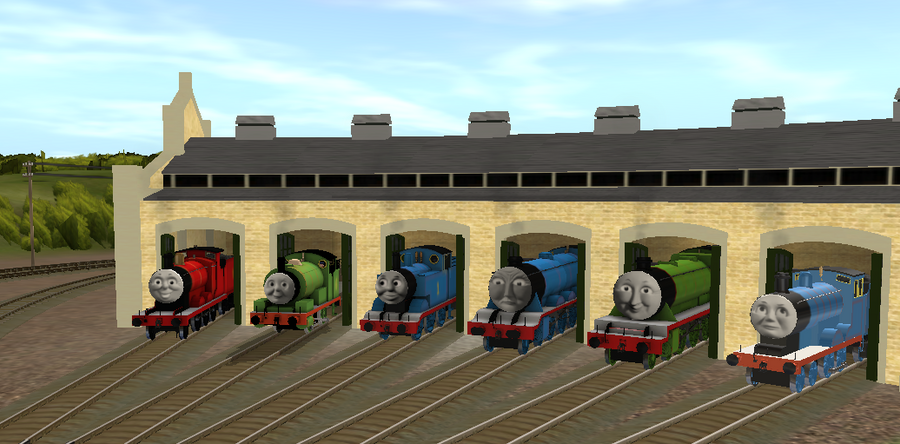 Chatting At Tidmouth Sheds By Lbbrian On Deviantart