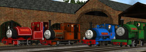 Four Little Engines by MH1994