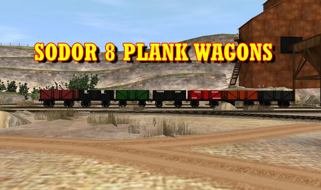 Sodor 8 Plank Wagons Release by lbbrian
