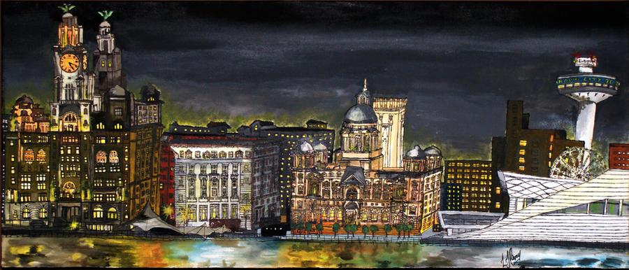 Liverpool Skyline By Ljtigerlily On Deviantart