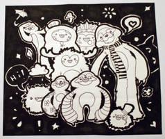 Monster Illustration by Ljtigerlily