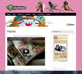 Affectionate Gizmos Web Design by Ljtigerlily