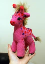 Baby Hand painted Giraffe Plush by Ljtigerlily