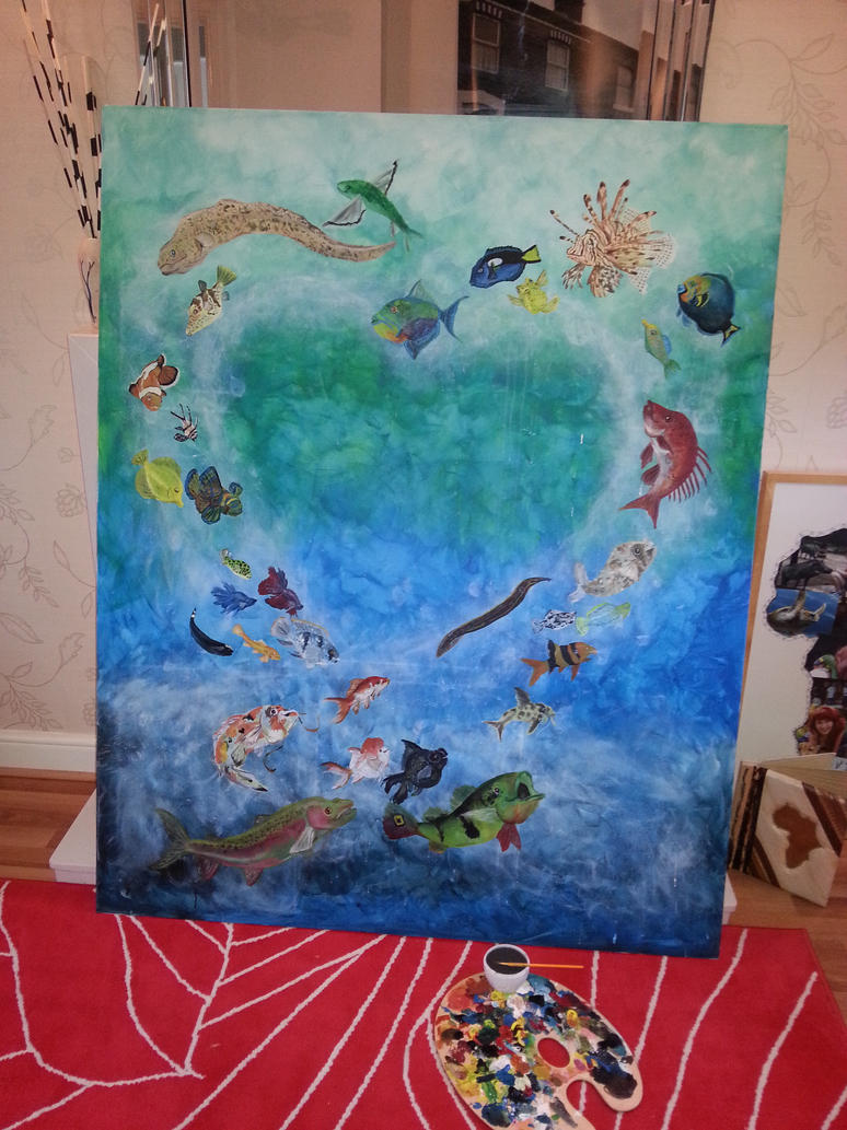 Project Fish Work in Progress by Ljtigerlily