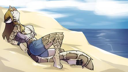 [C] Taylor at the Beach!