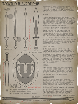 [C] Rose's Notes: Tabitha's Weapons!