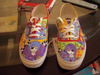Shoes Full of Cartoons by KuroNekoXIII6