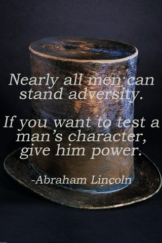 Man and adversity...Abe Quote by Biothief