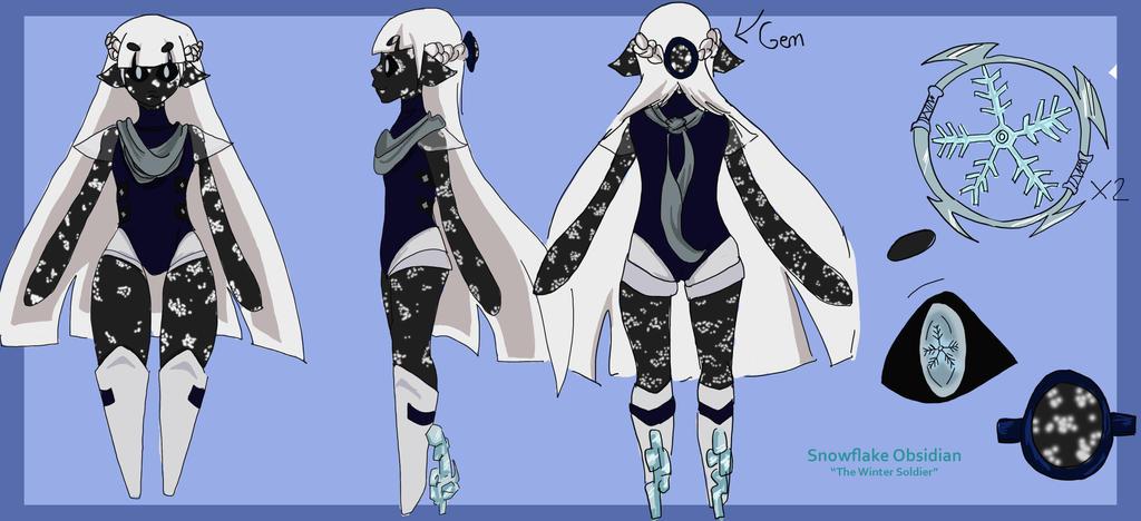 Gemsona: Snowflake Obsidian by NeoRinku