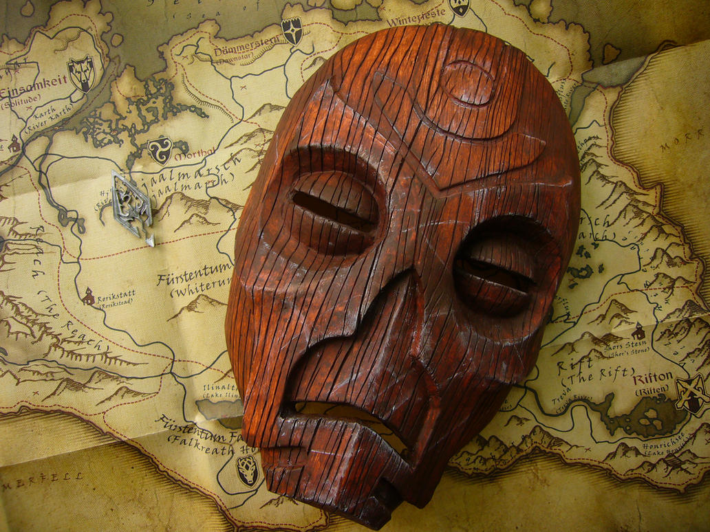 Wooden Mask (Dragon Priest Mask) from Skyrim by Corroder666