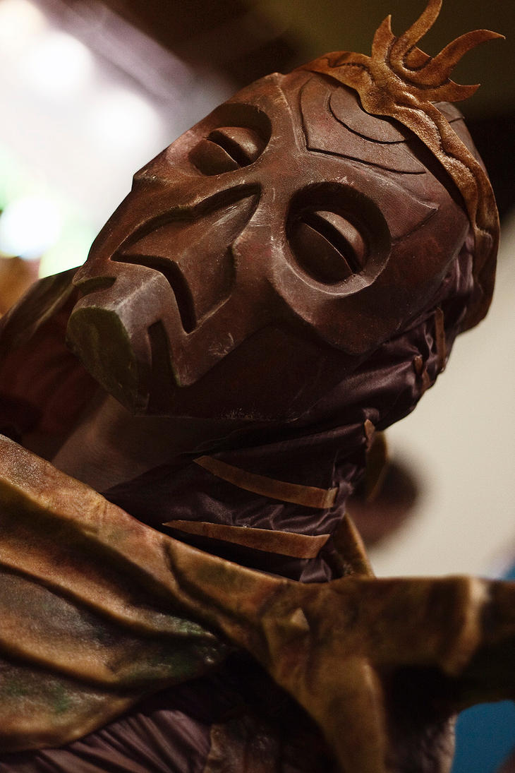Dragon Priest costume - Mask close up by Corroder666