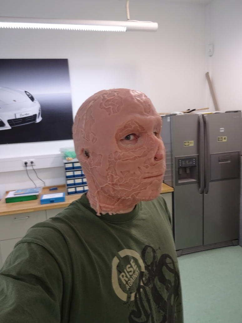 Fallout  Ghoul mask fitting test (mask unpainted) by Corroder666