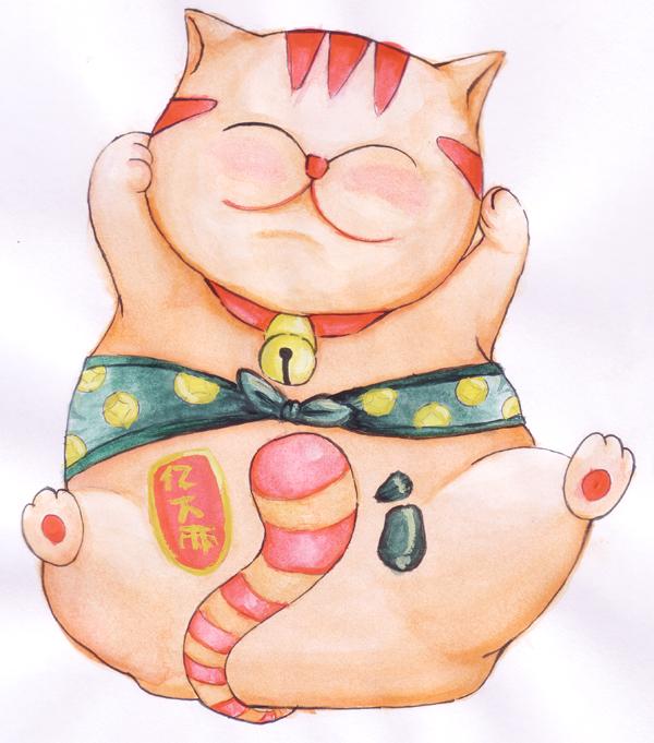 Good Luck Cat by otakunekogirl