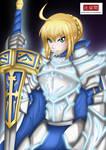 Fate - Arthuria Pendragon Custom Armor by HKawamata