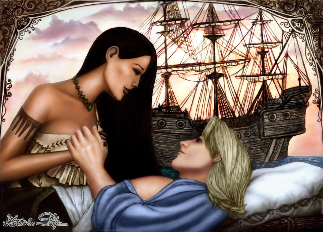 Pocahontas and John Smith by KAVALIER