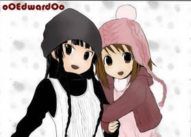 mio and yui by oOEdwardOo