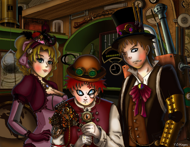 Steampunk Sand Siblings by lolitaninja