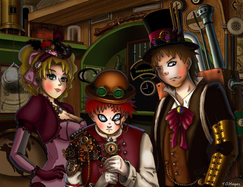 Steampunk Sand Siblings by lolitaninja