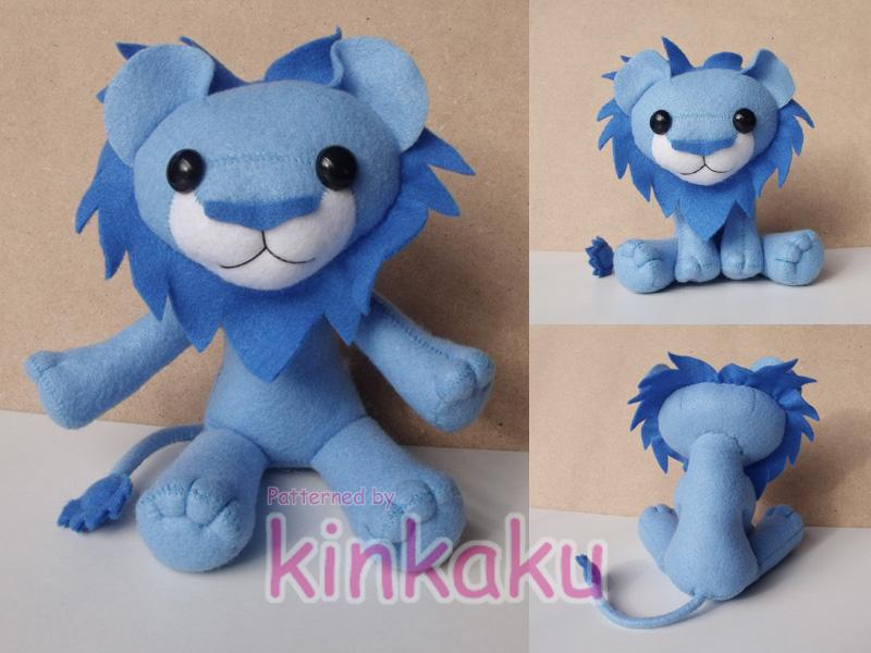 Plush - Blue Lion by kinkaku