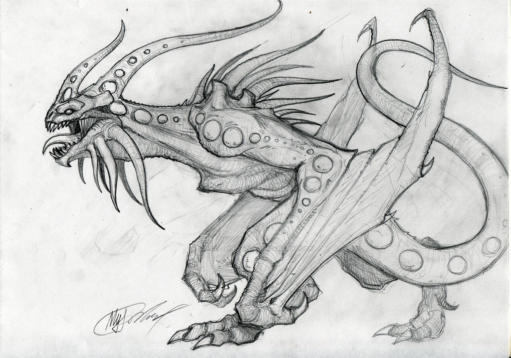 sketch dragon shadow by KIRILL-PREDATOR
