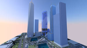 New World Trade Center Sunset
