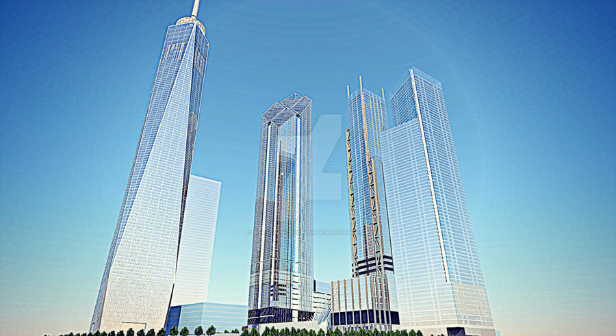 New World Trade Center rendering by WorldTradeCenter on