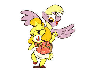 Isabelle and Derpy are Raring to go!