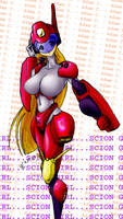 Cygirl flashy powersuit by wolfgrave