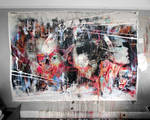 Latest piece on the studio wall