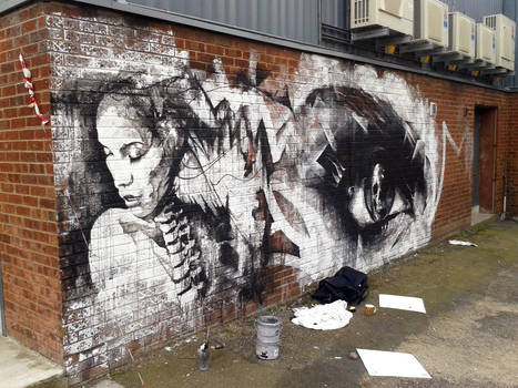 Street Art Work In Progress (Liverpool)